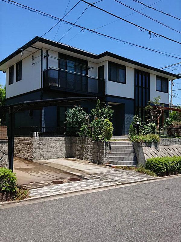 K様邸・無機質塗料外壁塗装工事(高屋)